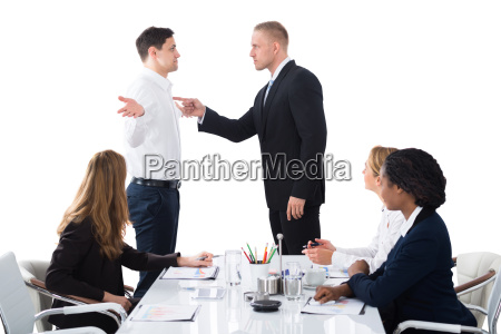 boss, blaming, male, executive, in, meeting - 23021345