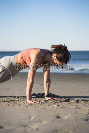 young woman working out during an