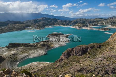 scenic view of laguna verde chile
