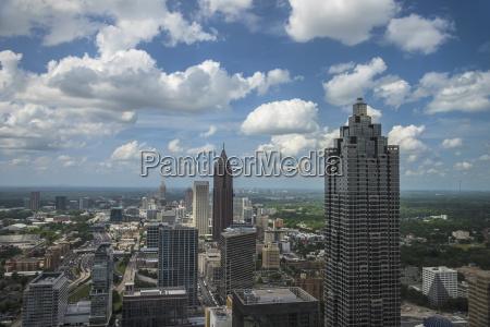 usa georgia atlanta cityscape with skyscrapers