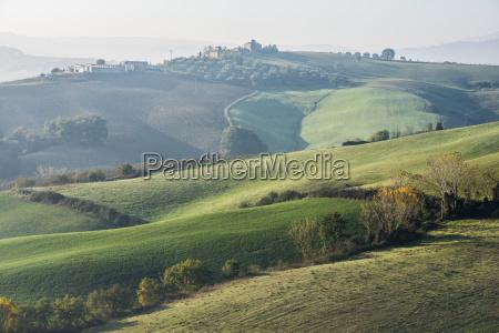 italy tuscany castiglione dorcia rolling landscape