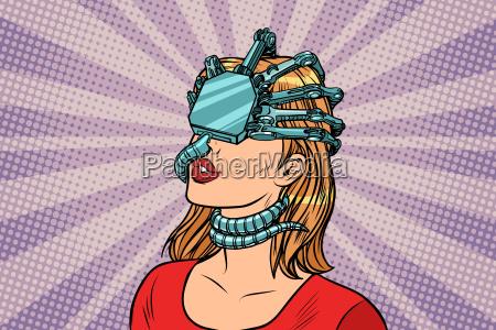 woman in a virtual reality dangerous