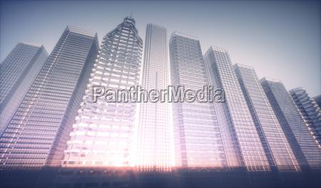 3d futuristic city concept