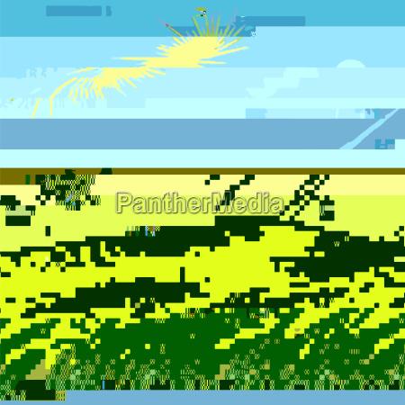 glitch colored background