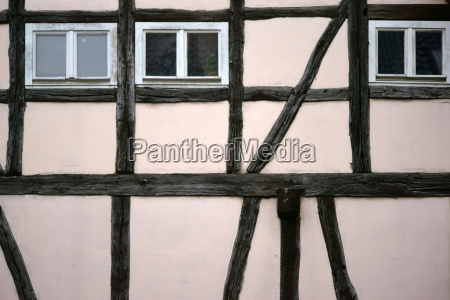 timbered facade