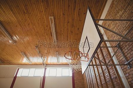 basket ball hoop in basketball court