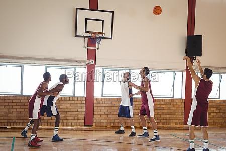 basketball player taking a penalty shot