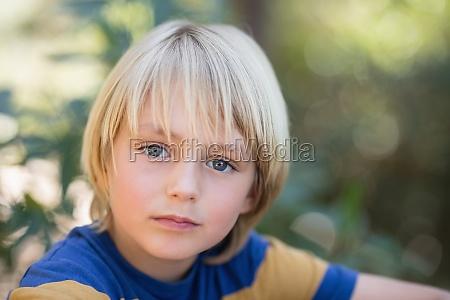 close up portrait of cute little