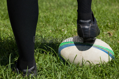 low section of rugby player with
