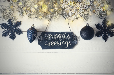 black christmas plate fairy light text