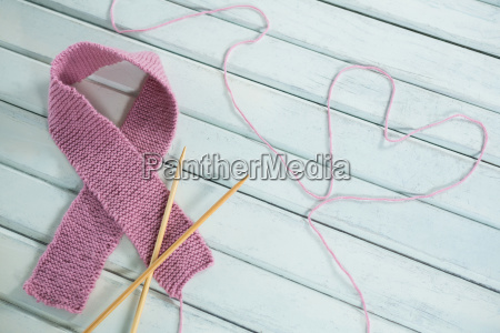 close up of pink breast cancer