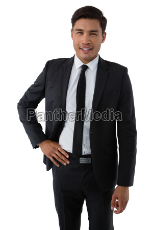 portrait of smiling young businessman with