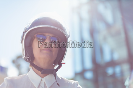 low angle view of businesswoman wearing