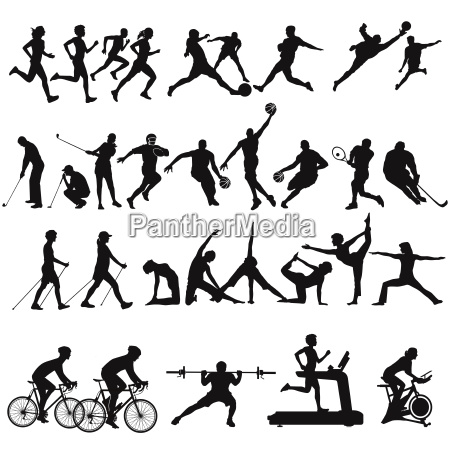 sport collection and leisure isolated