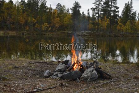 campfire in sweden