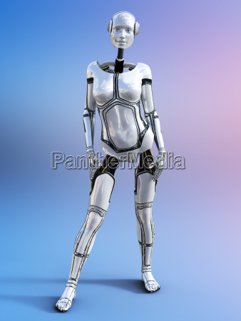 3d rendering of a female android