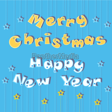 merry christmas happy new year greeting