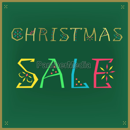 christmas sale card for retail