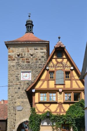 sieberstorturm in rothenburg