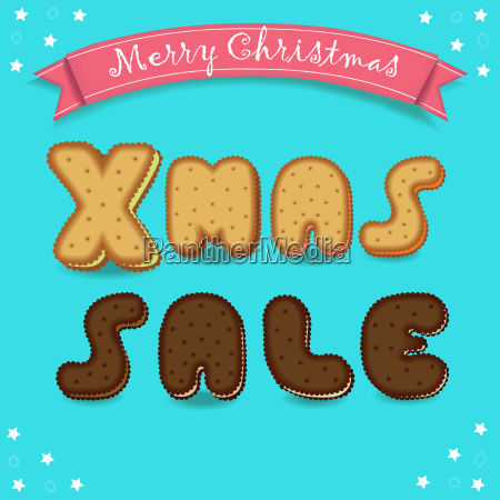 xmas sale merry christmas cookies font