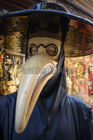 masked costume character venice carnival wearing