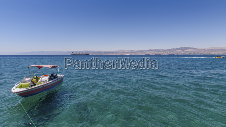 boat moored in the red sea
