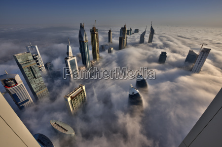 aerial view of cityscape with skyscrapers