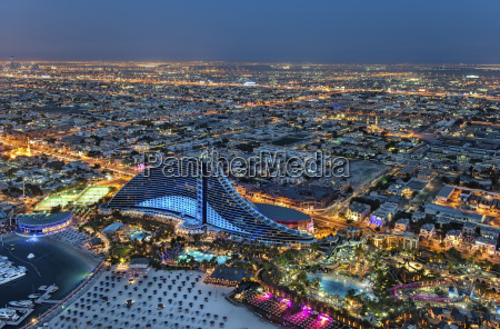 aerial view of the cityscape of