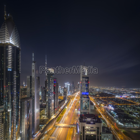 united arab emirates dubai aerial overview