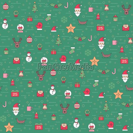 christmas and happy new year pattern