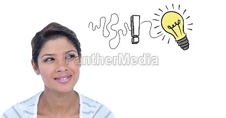 digital composite image of businesswoman getting