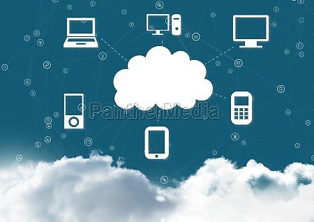 conceptual image of cloud computing