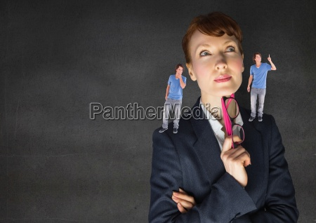 businesswoman confused between being good or