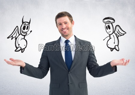 digital composite image of a businessman