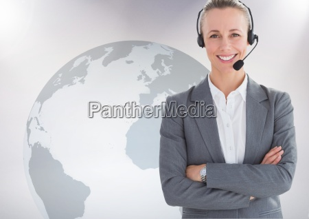 portrait of customer service woman with