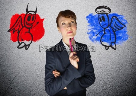 digital image of a businesswoman with