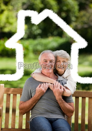 senior couple sitting in the park