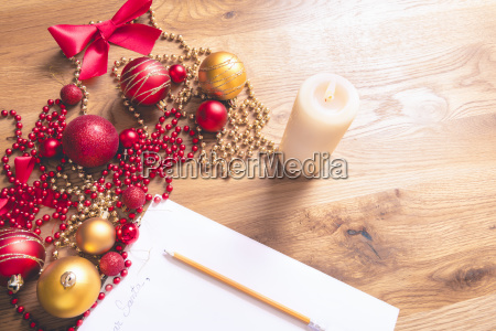 christmas letter and decorations