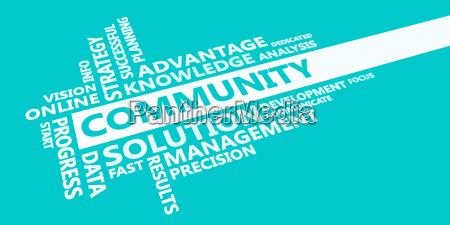 community presentation background