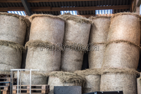 straw bales for storage