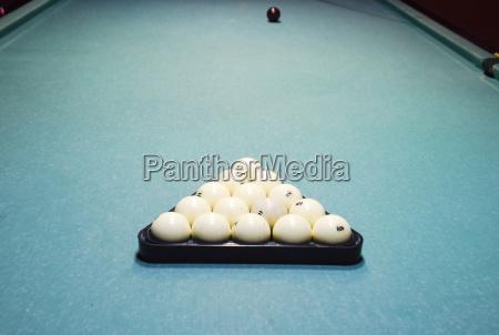 billiards billiard table balls in the