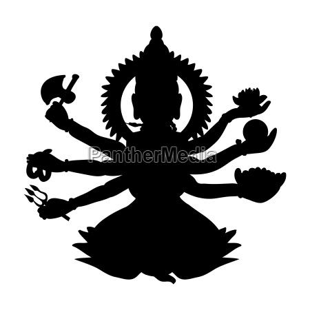 shiva silhouette traditional religion spirituality