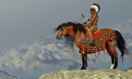 indian proud eagle