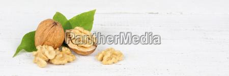 walnuts walnut nuts nut shell banner