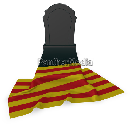 tombstone and catalan flag