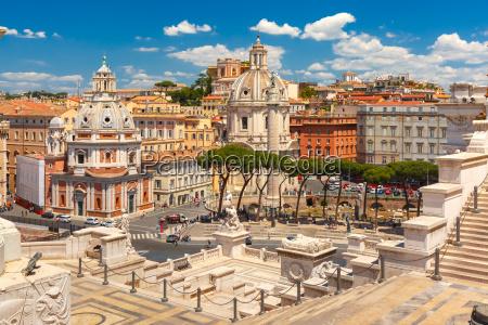 ancient trajan forum in rome italy