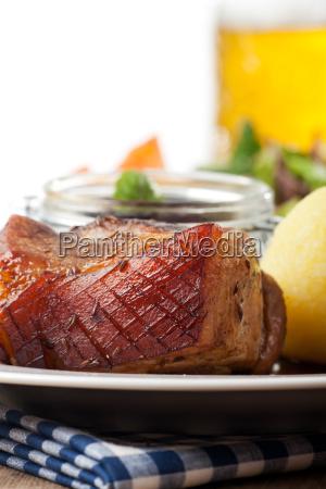 bavarian roast pork with dumpling