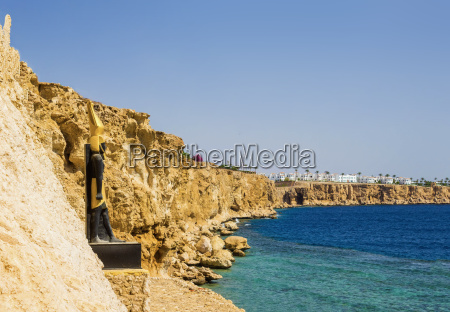 panorama of the beach at the