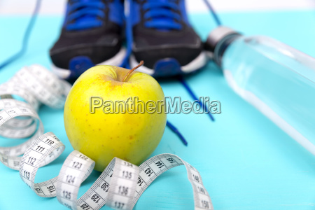 sports sneaker shoe with measuring tape