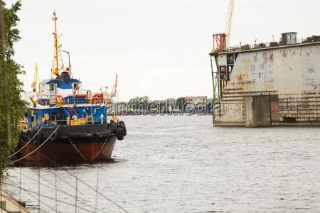 shipyard industry ship building floating dry
